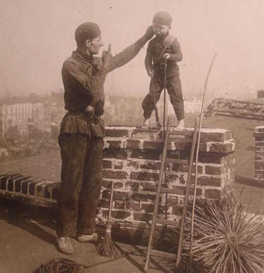 Child chimney sweep